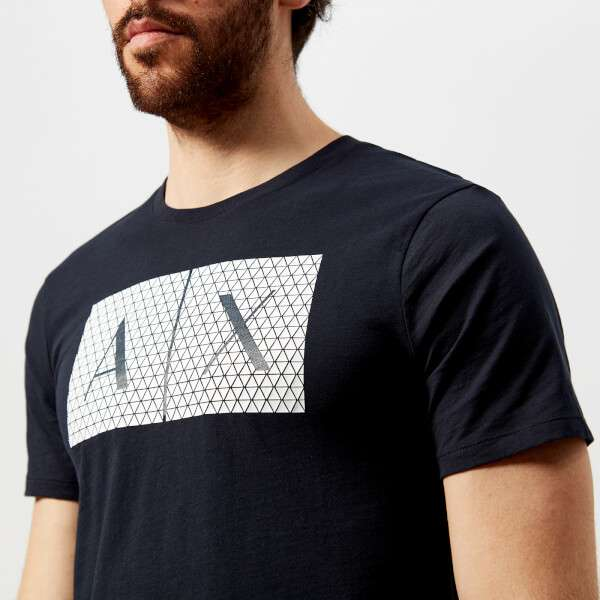 Armani Exchange Men's Ax Logo T-Shirt - Navy: Image 31