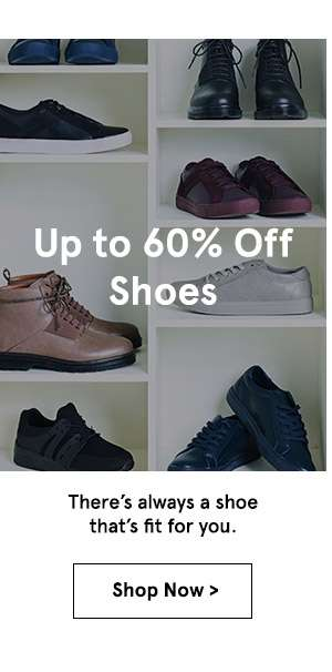 Up to 60% off shoes. shop now.