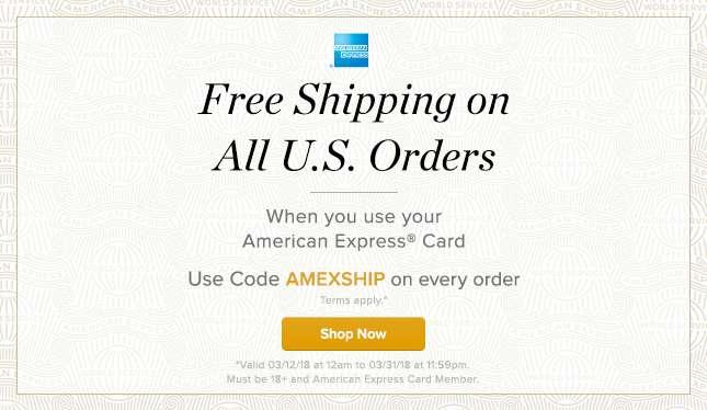 Amex Free Shipping
