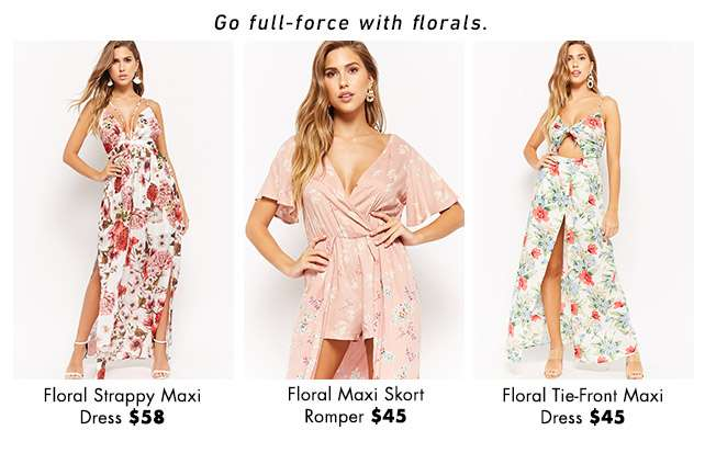 Go full force with florals