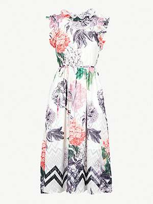 TED BAKER  																Ruffle floral print dress
