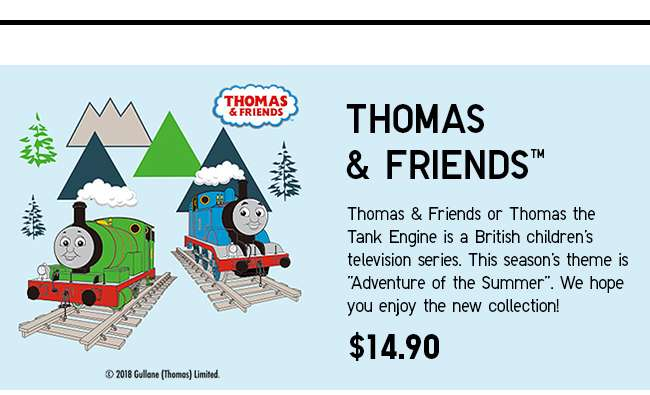 New launch! Thomas & Friends UT Collection now available!
