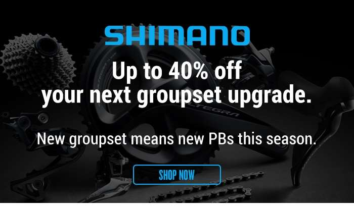 Up to 40% off your next groupset upgrade