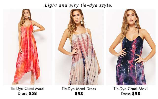 Light and airy tie-dye style.
