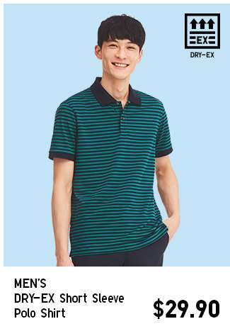 Men's DRY-EX Short Sleeve Polo Shirt at $29.90