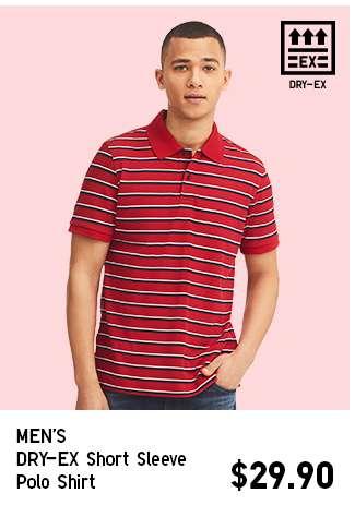 Men's DRY-EX Short Sleeve Polo Shirt at $29.90