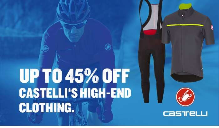 Up to 45% off Castelli's high-end clothing