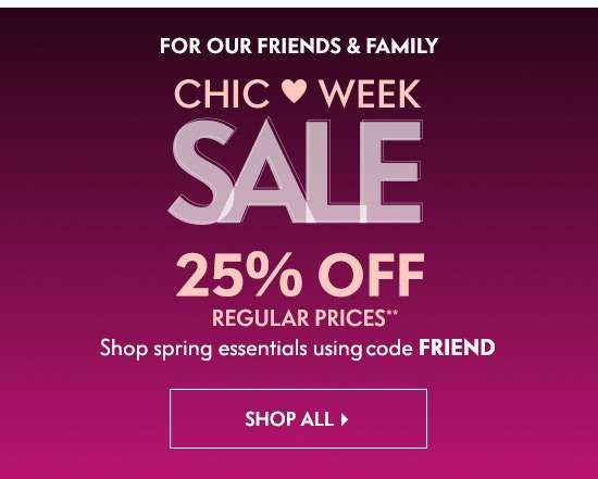 Chic Week Sale