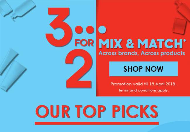 3 for 2 Mix & Match is back!