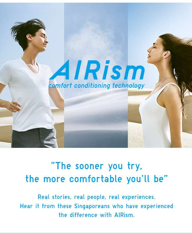 AIRism. Smart Innerwear that better your lives.