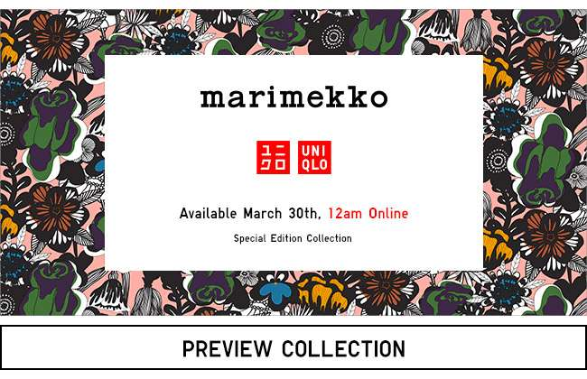 UNIQLO X MARIMEKKO. Coming March 30th