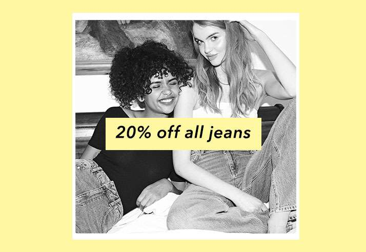 20% Off All Jeans - Shop Jeans