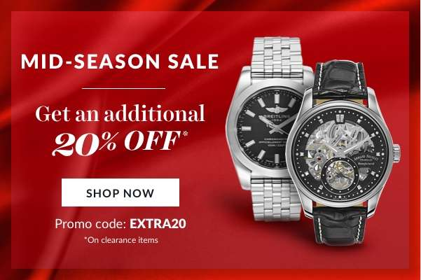 Mid- Season Sale Get an additional 20% off* Use promo code: EXTRA20