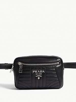 PRADA                                                                      Small quilted belt bag