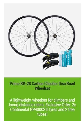 Prime RR-28 Carbon Clincher Disc Road Wheelset