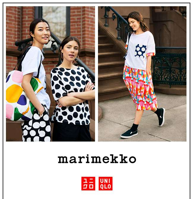 Uniqlo X Marimekko. Available online at 12am.