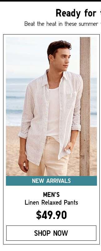 Shop Men's Linen Relaxed Pants