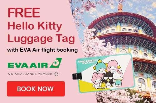 Enjoy a FREE Hello Kitty luggage tag from EVA Air