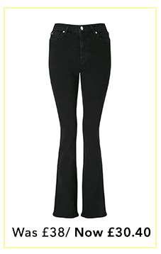 LIZZIE Black Skinny Flare Jeans