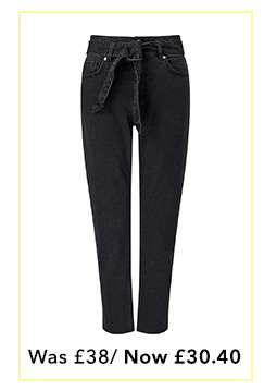 Black Belted MOM Jeans