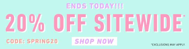 20% off sitewide* | use code: SPRING20 | Shop now!