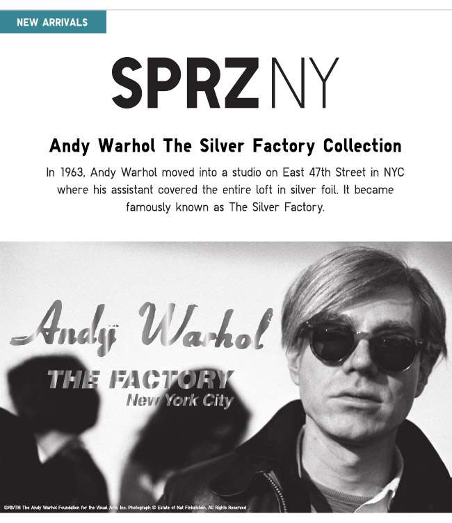 Shop SPRZ NY Andy Warhol The Silver Factory Collection