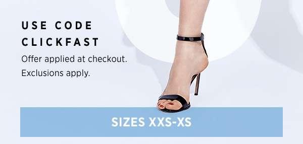 Sizes XXS-XS