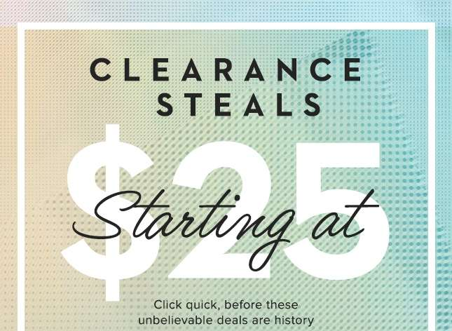 Clearance Steals