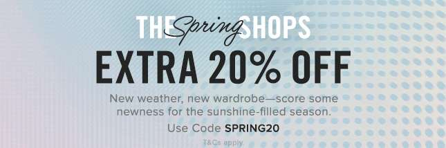 Use Code SPRING20