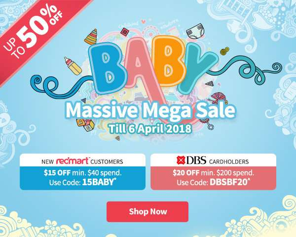 Baby Massive Mega Sale 2018 is here! Promos till 6 April 2018 or while stocks last.