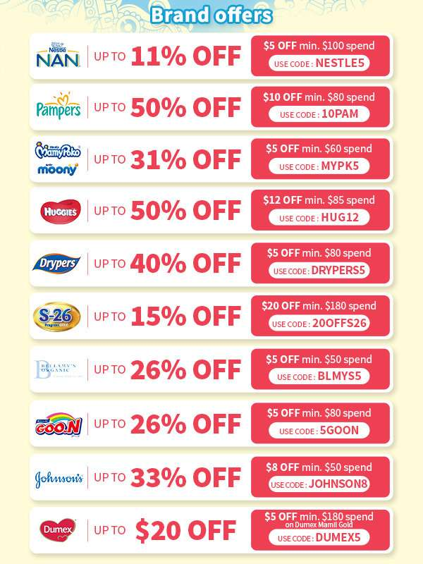 Lock in and stock up on all your baby and kids essentials! Use these promo codes for even greater savings.