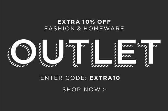 Extra 10% off the outlet, enter code EXTRA10