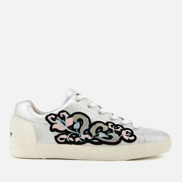 Ash Women's Nak Bis Tumbled Leather Low Top Trainers