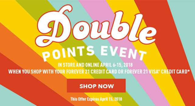 Forever 21 Credit Card Earn 2x points | Shop Now