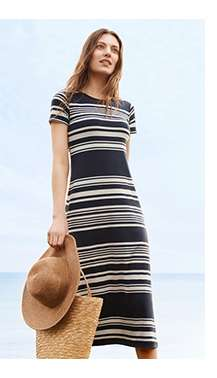Women's Striped Long Bra Dress at $49.90