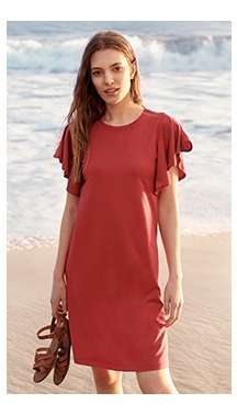 Women's Flare Short Sleeve Bra Dress at $49.90