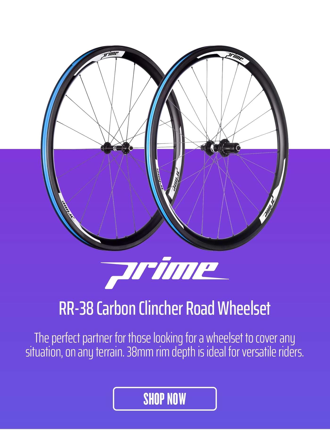 Prime RR-38 Carbon Clincher Road Wheelset