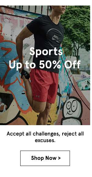 Sports up to 50% off. shop now.