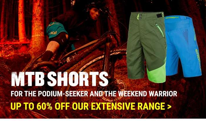 Up to 60% off our extensive range of MTB shorts
