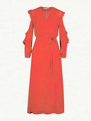 MAJE Remy frilled dress