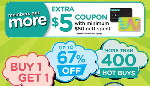 Extra $5 coupon with min $50 nett spent