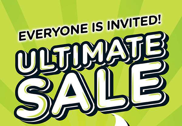 Ultimate Sale 2 days only!