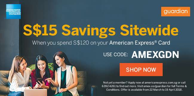 Save $15 when you use your AMEX card to shop!