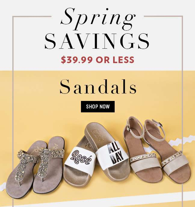 $39.99 or Less Sandals
