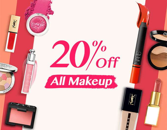 Extra 20% Off All Makeup! Ends 16 Apr 2018