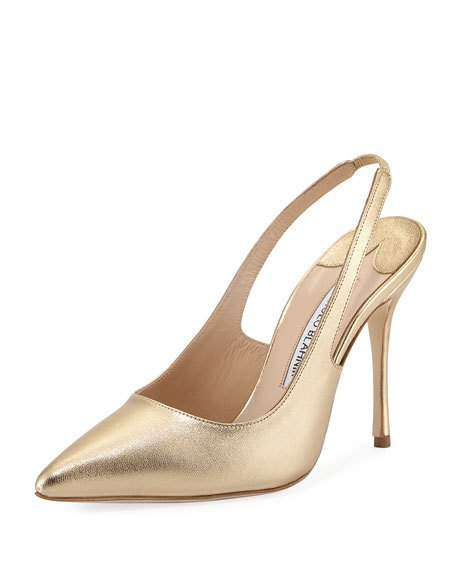 Allura Metallic Leather Slingback Pump