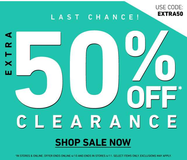 Extra 50% Off Clearance | use code: EXTRA50