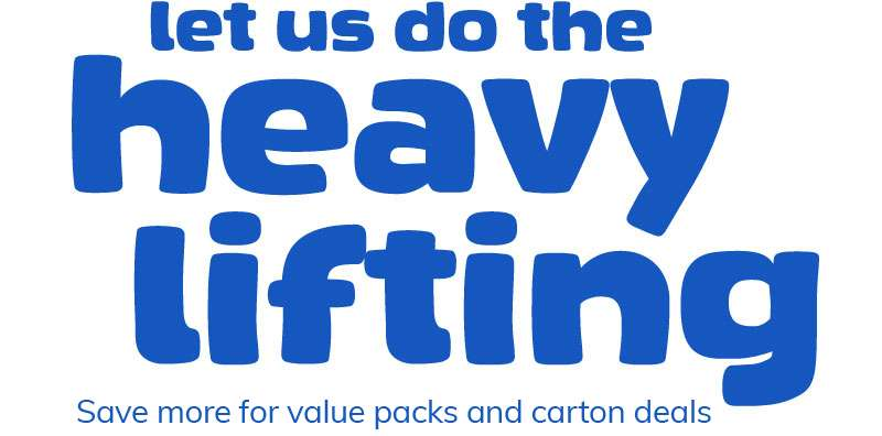 let us do the heavy lifting Shop for carton deals now