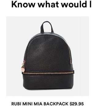 Rubi mini mia backpack | Shop Now