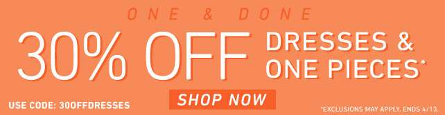 30% Off Plus Dresses & One Pieces | use code: 30OFFDRESSES | Shop Now!